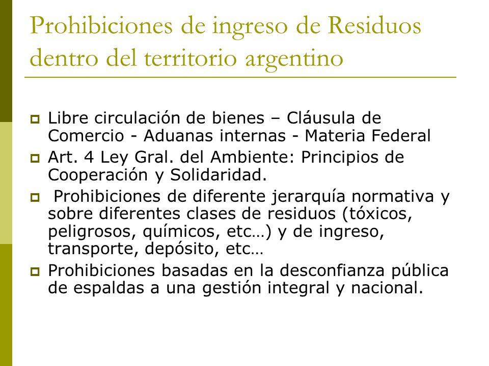 Las prohibiciones de Ingreso de Residuos en el territorio argentino Caso City of Philadelphia v.