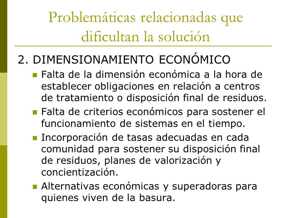 Problemáticas relacionadas que dificultan la solución 3.