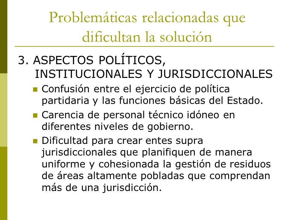 Problemáticas relacionadas que dificultan la solución 4. ASPECTOS LEGALES Y NORMATIVOS.