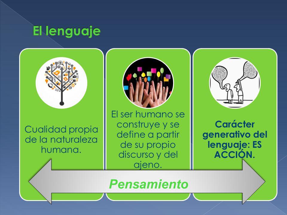 El conocimiento de la lengua, como sistema lingüístico, es un aprendizaje que posibilita otros aprendizajes.