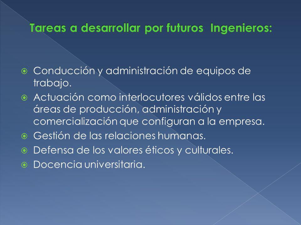 Conducción y administración de equipos de trabajo. Actuación como interlocutores válidos entre las áreas de producción, administración y comercializac