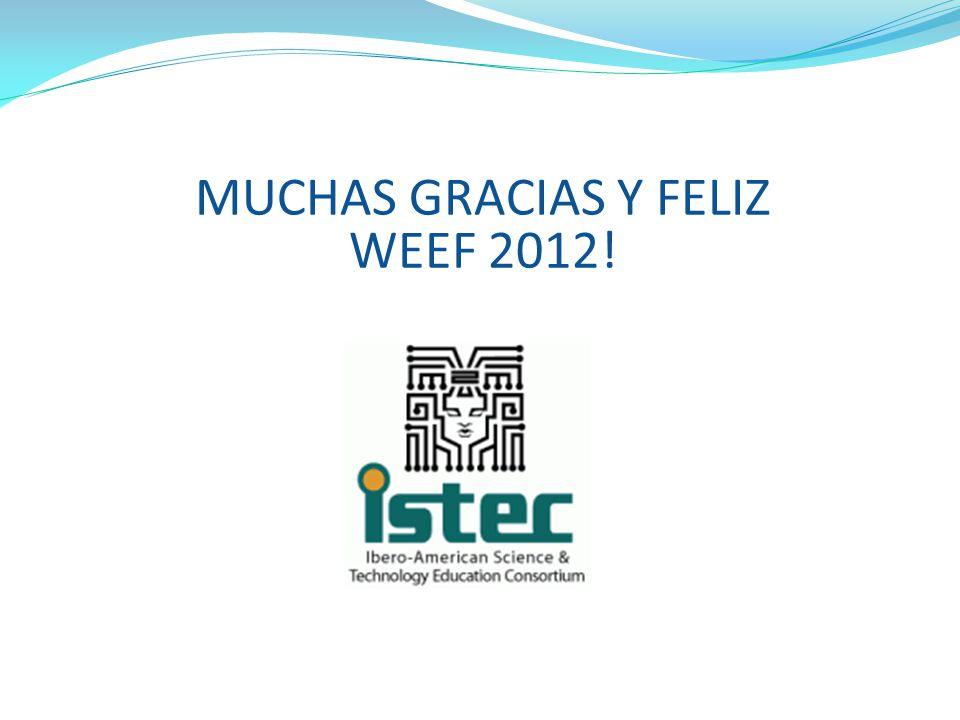 MUCHAS GRACIAS Y FELIZ WEEF 2012!