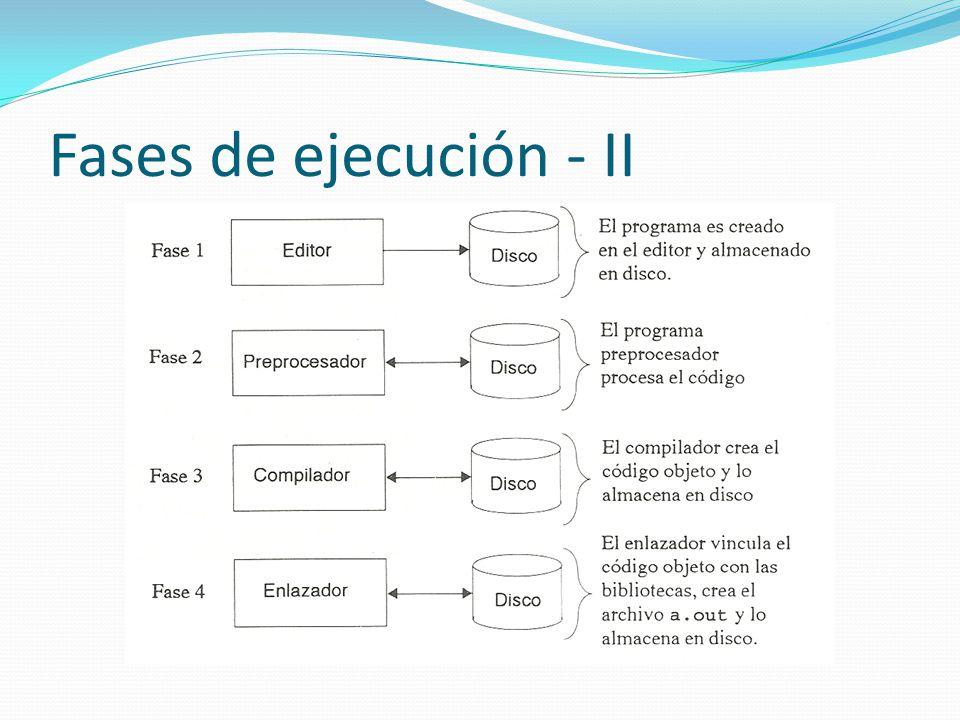 Fases de ejecución - II