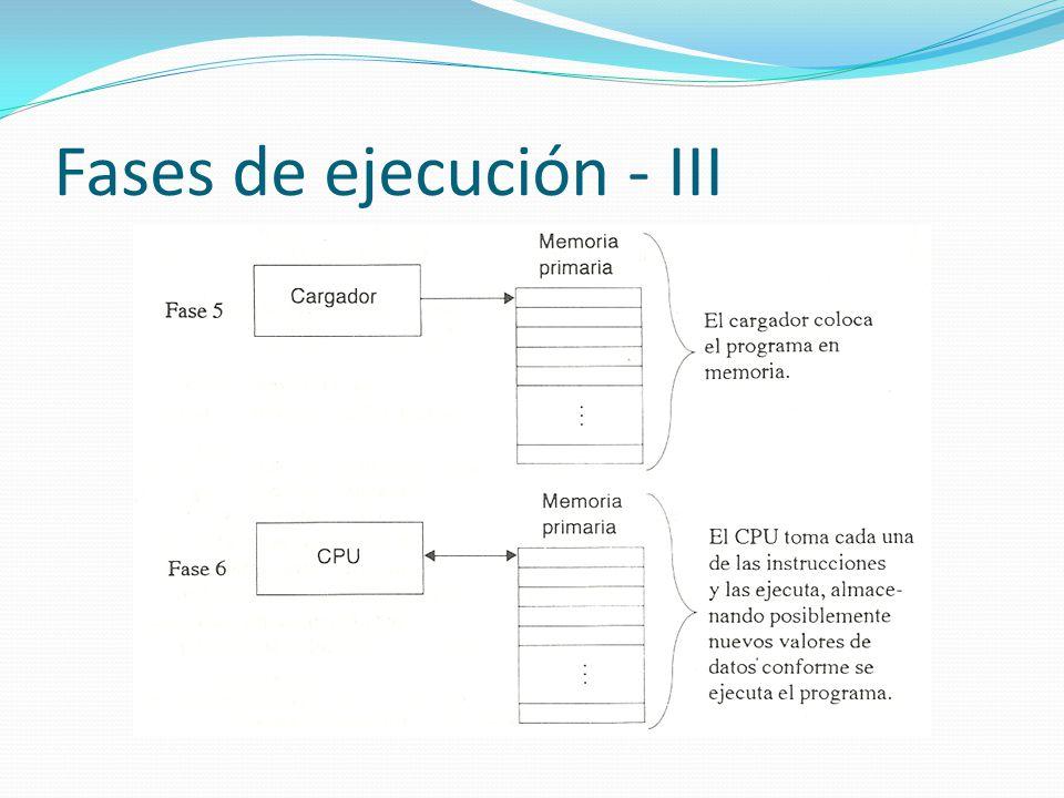 Fases de ejecución - III