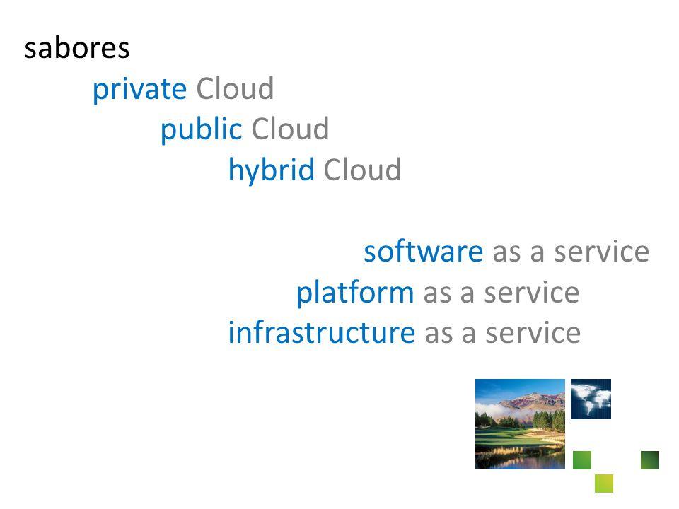sabores private Cloud public Cloud hybrid Cloud software as a service platform as a service infrastructure as a service