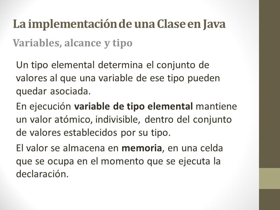 Un tipo elemental determina el conjunto de valores al que una variable de ese tipo pueden quedar asociada. En ejecución variable de tipo elemental man