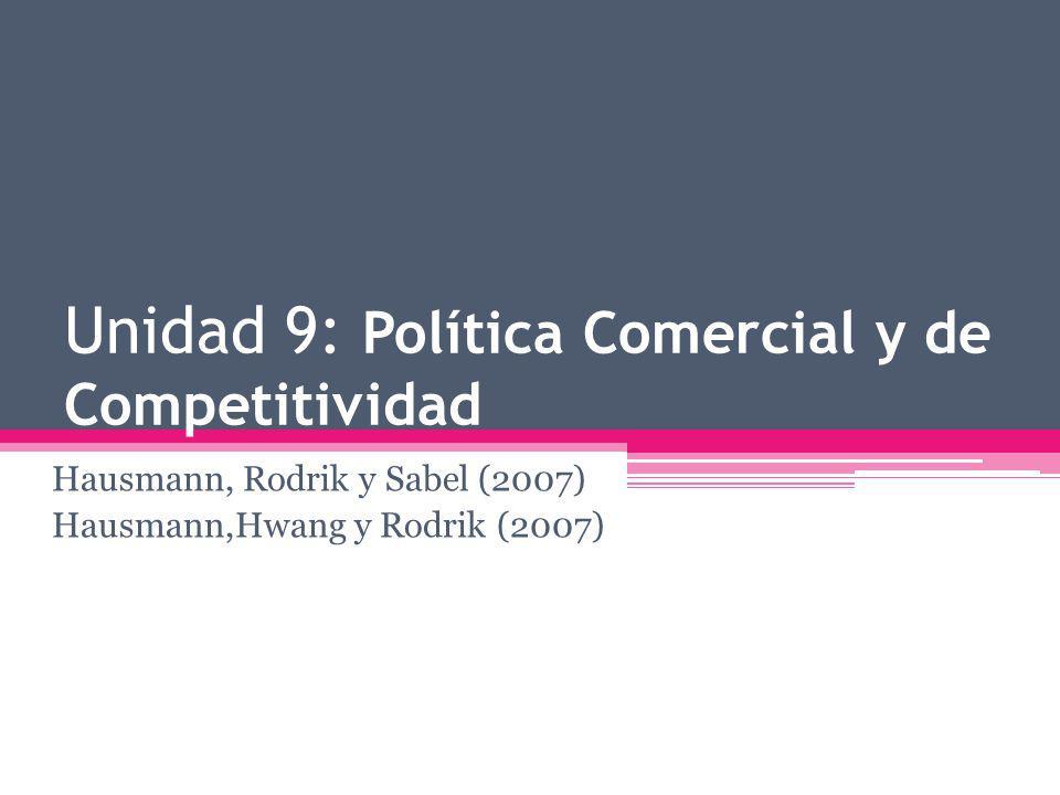 Unidad 9: Política Comercial y de Competitividad Hausmann, Rodrik y Sabel (2007) Hausmann,Hwang y Rodrik (2007)
