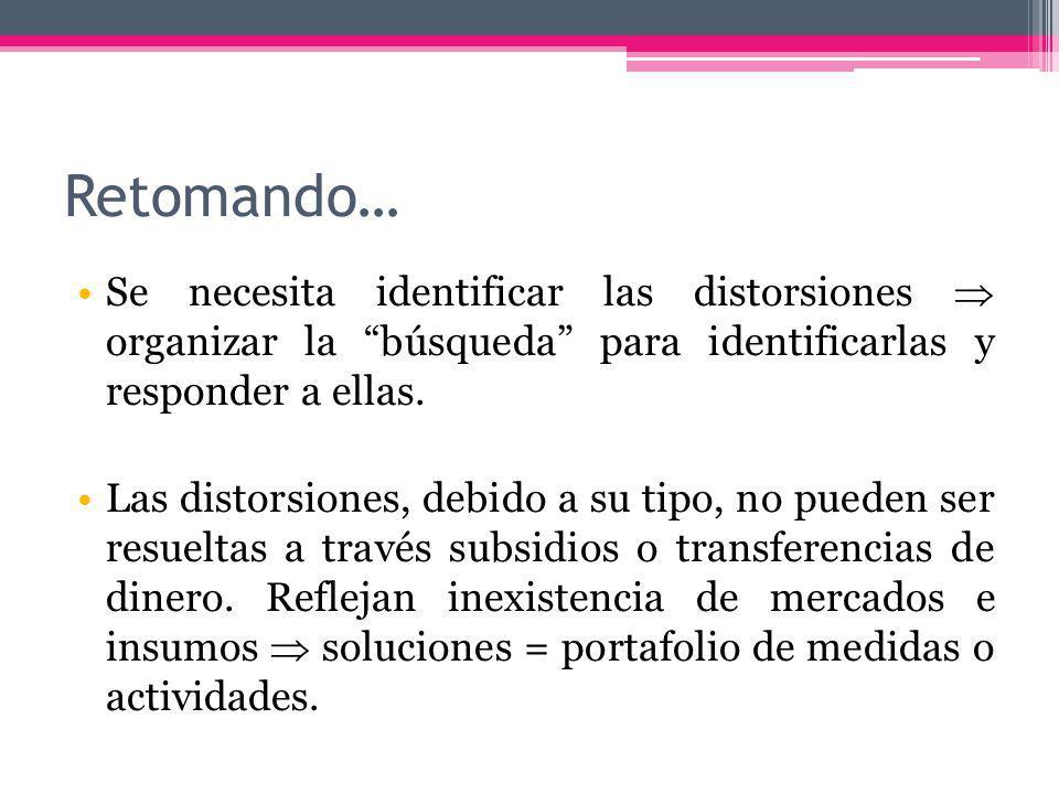 Retomando… Se necesita identificar las distorsiones organizar la búsqueda para identificarlas y responder a ellas.