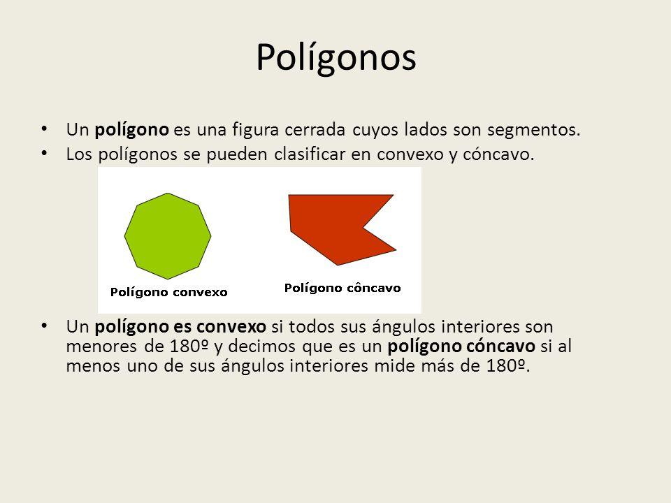 Los polígonos pueden ser regulares e irregulares: Si las longitudes de todos los lados y las amplitudes de sus ángulos son iguales decimos que el polígono es regular.