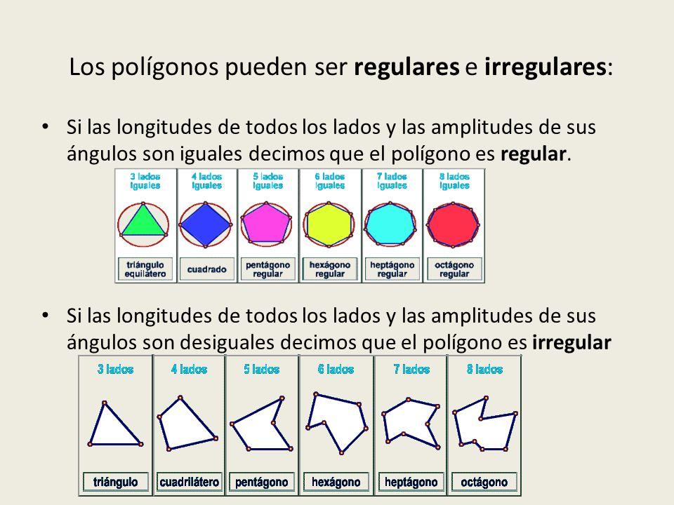 Elementos de un polígono Todos los polígonos tienen los siguientes elementos: lado: es cada uno de los segmentos que delimita la figura; vértice: punto de intersección de los lados; diagonal: segmento que une dos vértices no consecutivos; ángulo interior: es el ángulo que forman dos lados consecutivos; ángulo exterior: ángulo adyacente al ángulo interior.