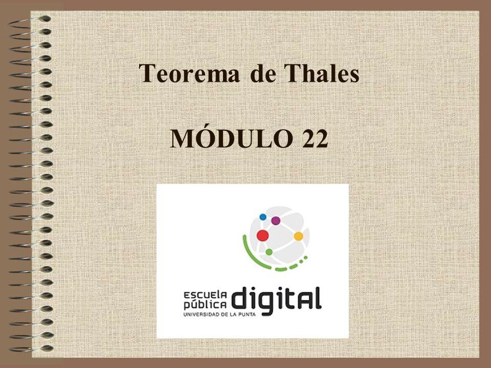 Teorema de Thales MÓDULO 22