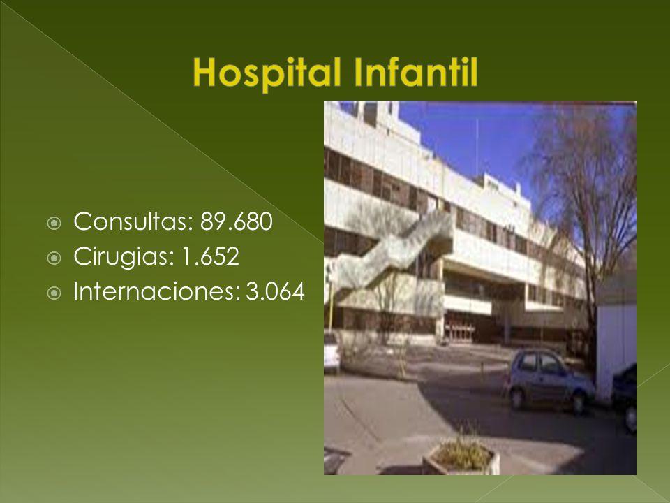 Consultas: 89.680 Cirugias: 1.652 Internaciones: 3.064