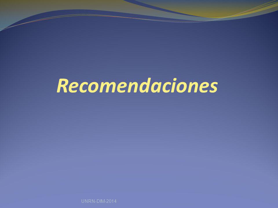Recomendaciones UNRN-DIM-2014