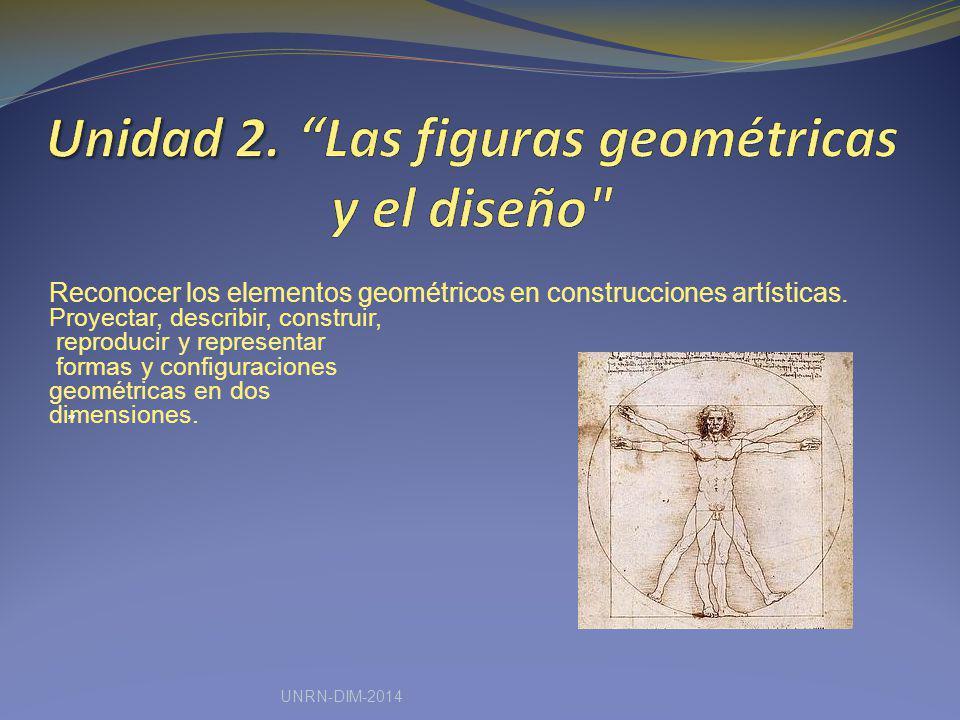Reconocer los elementos geométricos en construcciones artísticas. Proyectar, describir, construir, reproducir y representar formas y configuraciones g