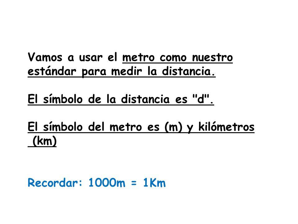 Podemos comparar la distancia entre dos objetos con la distancia entre otros dos objetos. Por ejemplo:¿ que distancia es mayor o menor? De la escuela