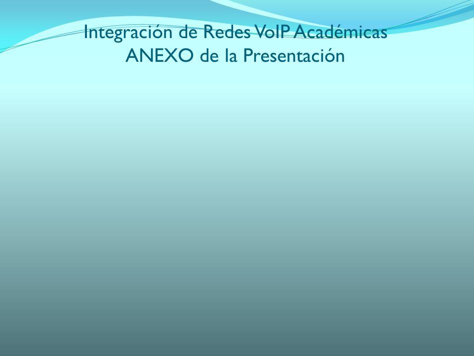 Integración de Redes VoIP Académicas ANEXO de la Presentación
