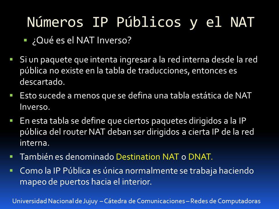Universidad Nacional de Jujuy – Cátedra de Comunicaciones – Redes de Computadoras ¿Qué es el NAT Inverso.