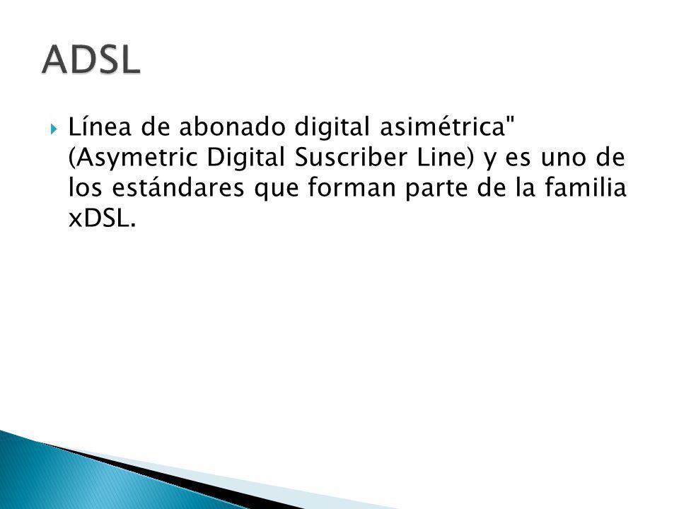 Línea de abonado digital asimétrica