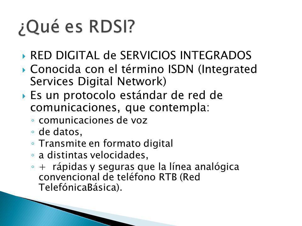 la línea ISDN debe tener : Un Terminal Adapter (TA):Este dispositivo convierte las señales eléctricas de la interfaz RS232 al formato de ISDN.