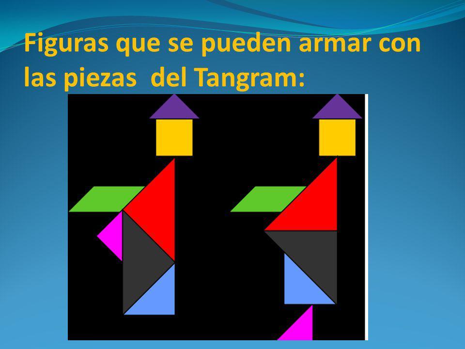 Figuras que se pueden armar con las piezas del Tangram: