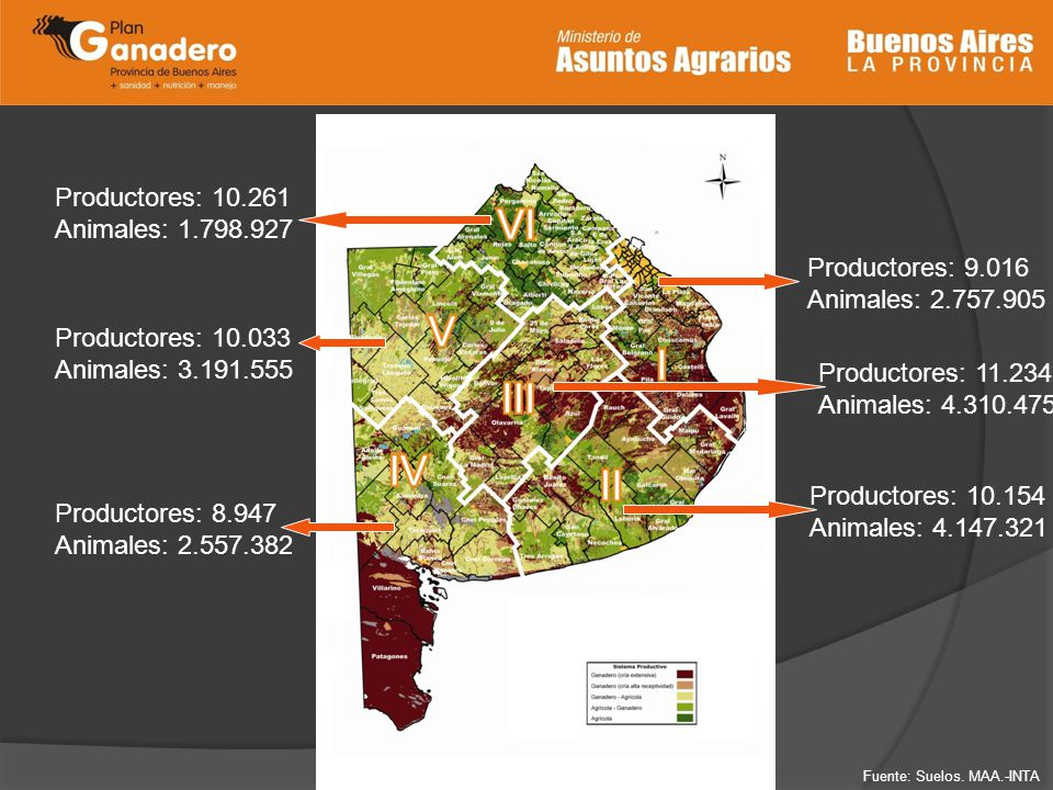 Productores: 9.016 Animales: 2.757.905 Productores: 11.234 Animales: 4.310.475 Productores: 10.154 Animales: 4.147.321 Productores: 8.947 Animales: 2.