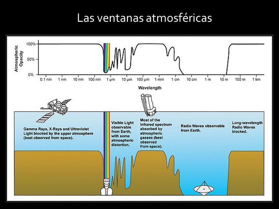 Los astrónomos observamos el Universo en todas las longitudes de onda posibles: - En el óptico o visible -En radiofrecuencias - En Microondas: Wilkinson -En el infrarrojo: Spitzer (el telescopio emite)