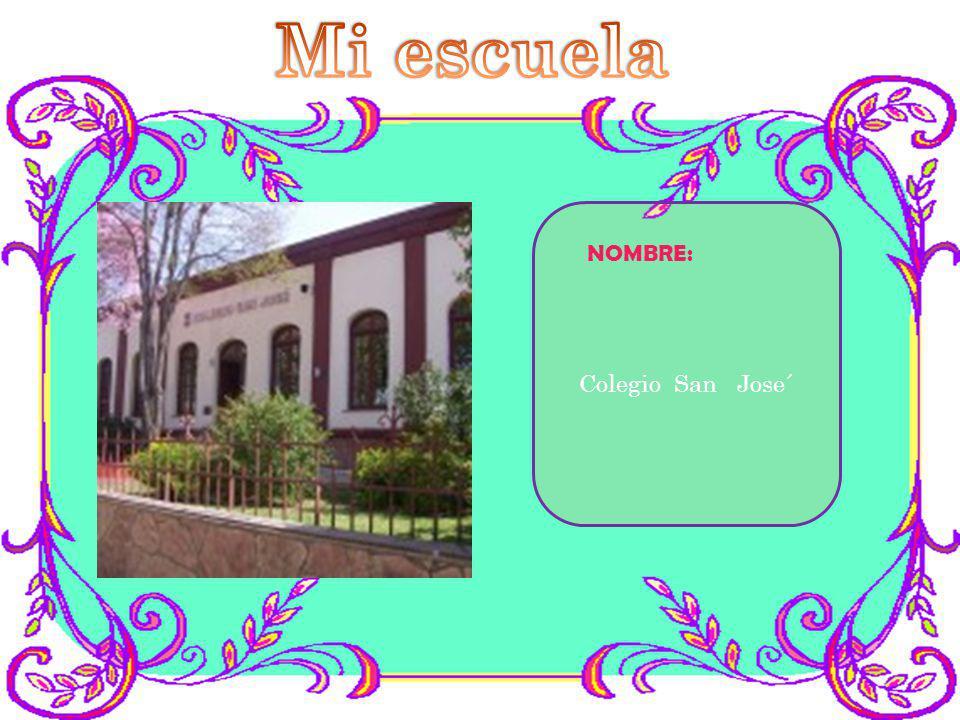 NOMBRE: Colegio San Jose´