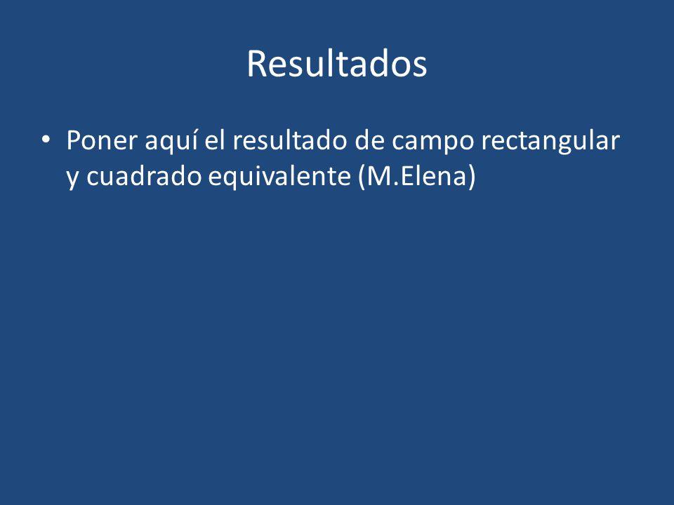 Poner aquí el resultado de campo rectangular y cuadrado equivalente (M.Elena) Resultados