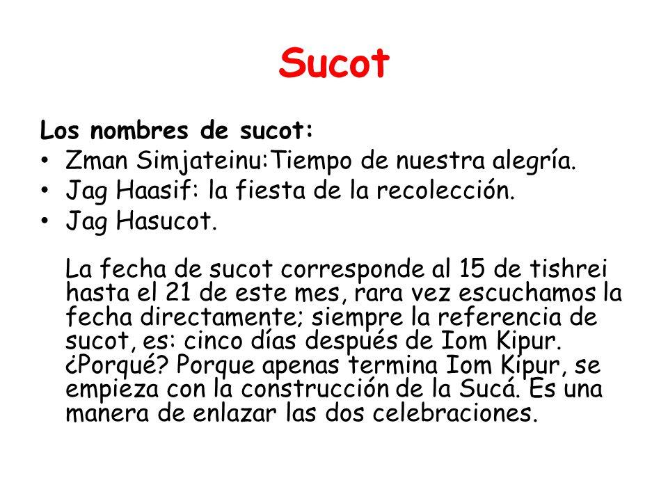 Costumbres: CONSTRUCCION DE LA SUCA: Una sucá debe tener por lo menos tres paredes.