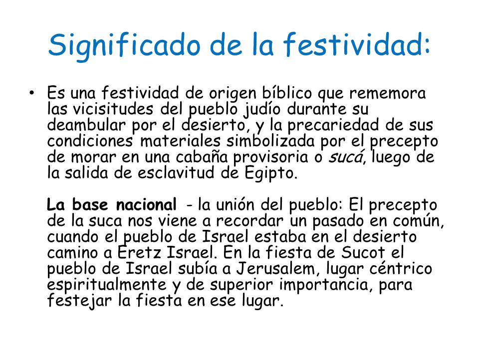 Significado de la festividad: La festividad es llamada por nuestros sabios época de alegría .
