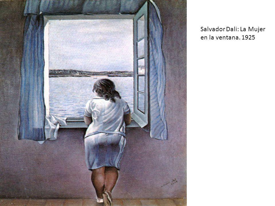 Salvador Dali: La Mujer en la ventana. 1925