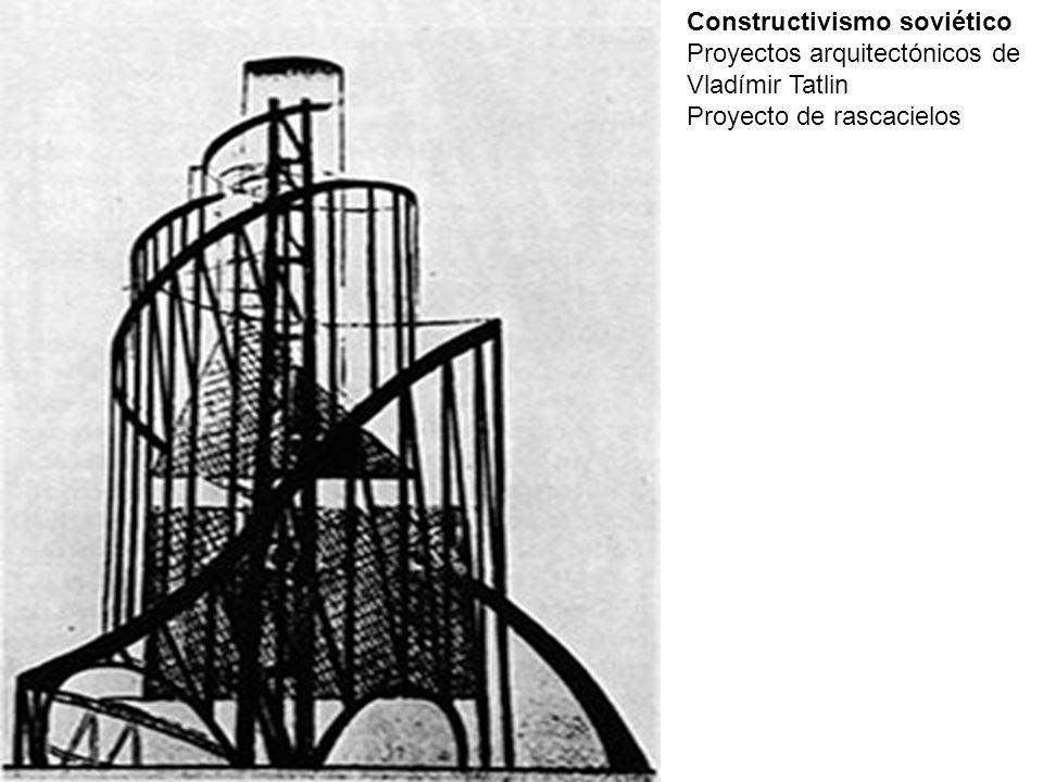 Constructivismo soviético Proyectos arquitectónicos de Vladímir Tatlin Proyecto de rascacielos
