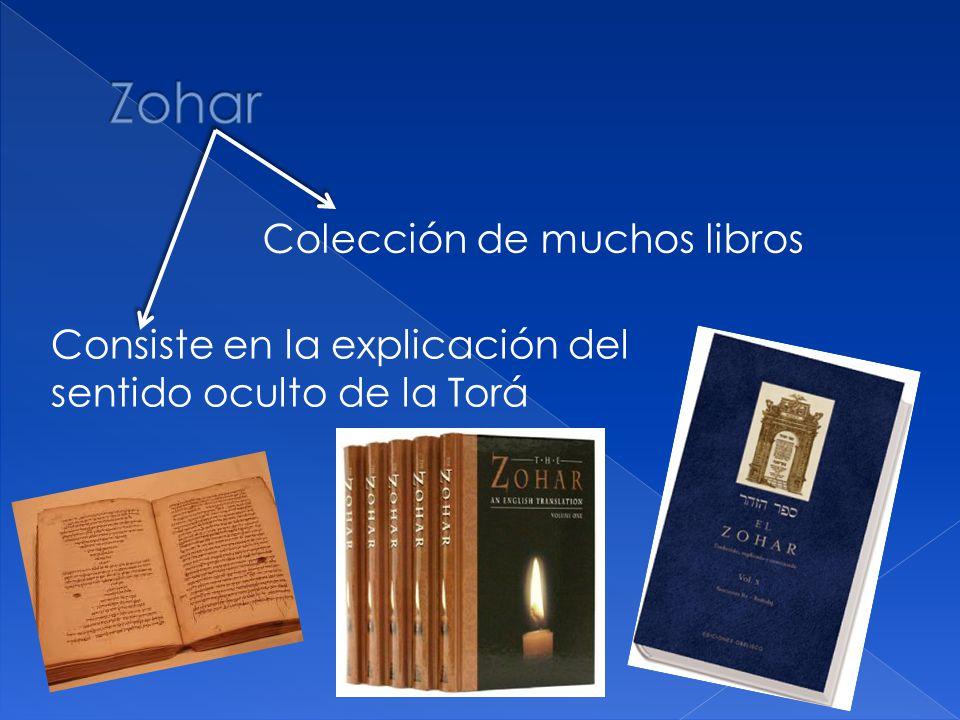 Colección de muchos libros Consiste en la explicación del sentido oculto de la Torá
