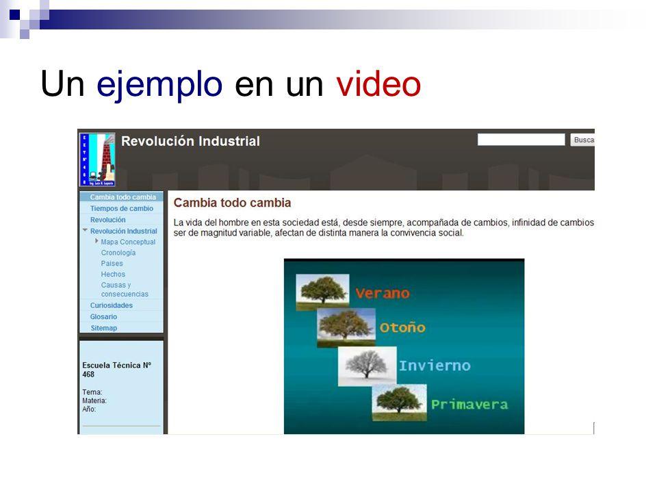 Un ejemplo en un video