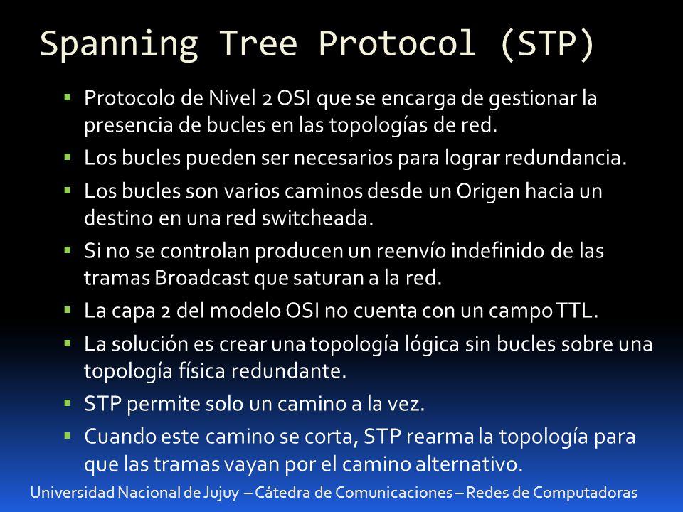 Universidad Nacional de Jujuy – Cátedra de Comunicaciones – Redes de Computadoras Protocolo de Nivel 2 OSI que se encarga de gestionar la presencia de