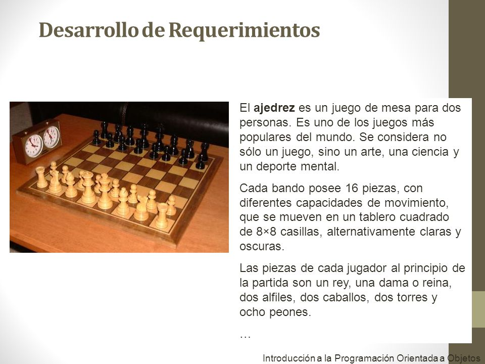 El ajedrez es un juego de mesa para dos personas. Es uno de los juegos más populares del mundo. Se considera no sólo un juego, sino un arte, una cienc