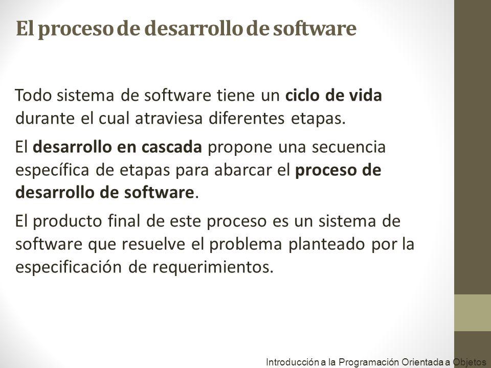 Todo sistema de software tiene un ciclo de vida durante el cual atraviesa diferentes etapas.
