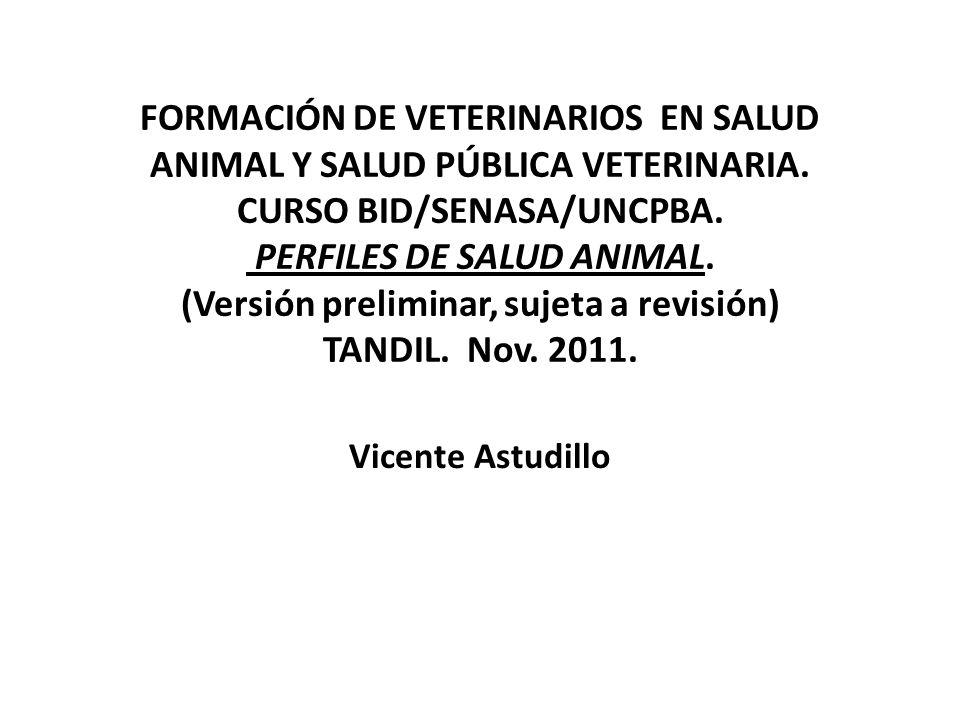 COMPONENTES DE LA SALUD ANIMAL MEDIO AMBIENTE FORMAS DE ORGANIZACIÓN SOCIO ECONÓMICA DE LA PRODUCCIÓN ANIMAL PERFILES DE SALUD ANIMAL Y EPIDEMIOLÓGICOS.