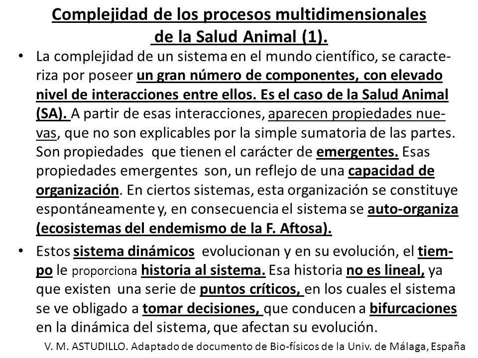 Complejidad de los procesos multidimensionales de la Salud Animal (2).