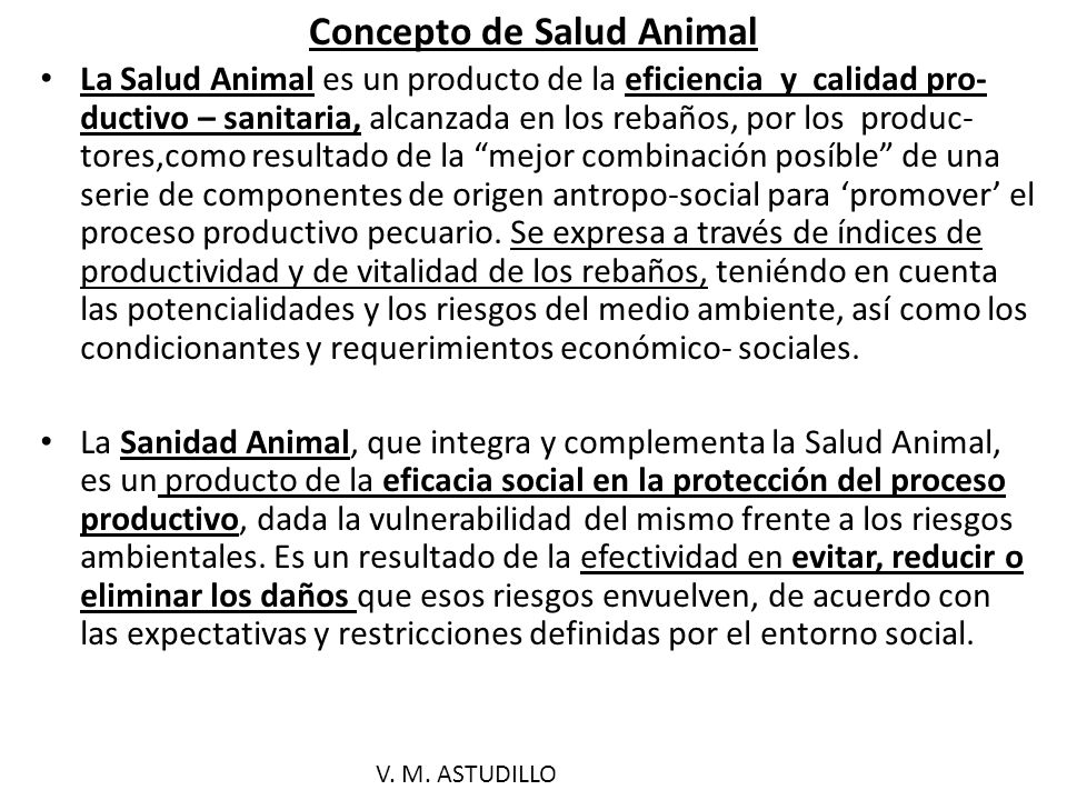 Características del proceso Salud/ Enfermedad (animal).