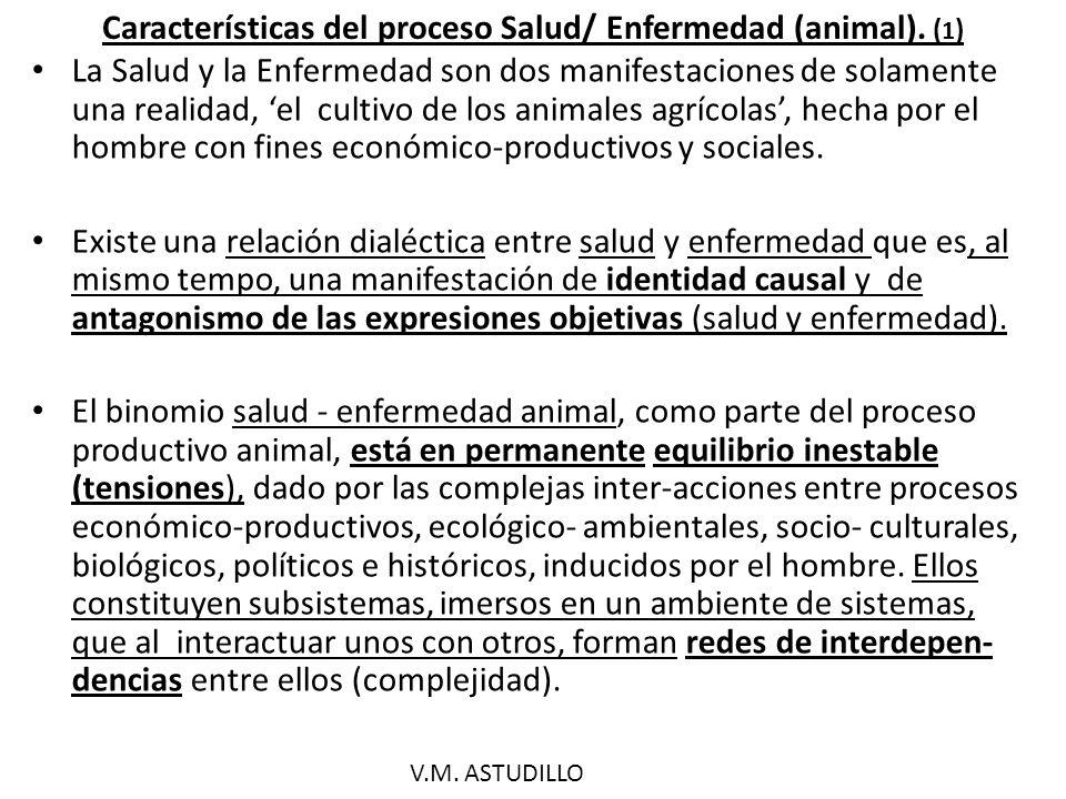 Características del proceso Salud/Enfermedad (animal).
