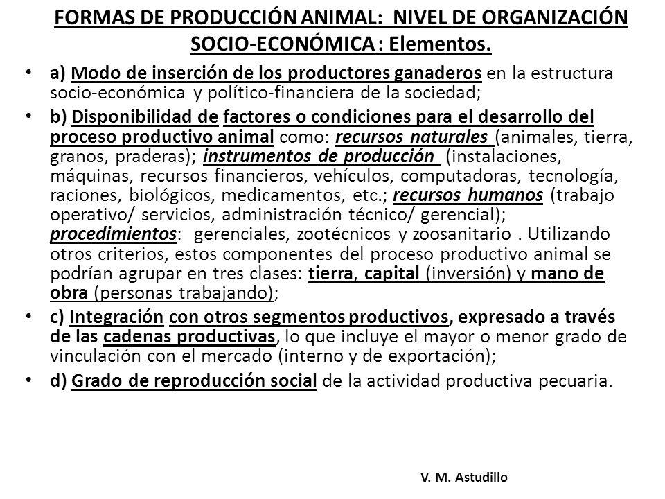 Características econômico-demográficas das Formas de Produção Bovina na Região Sul (RS).