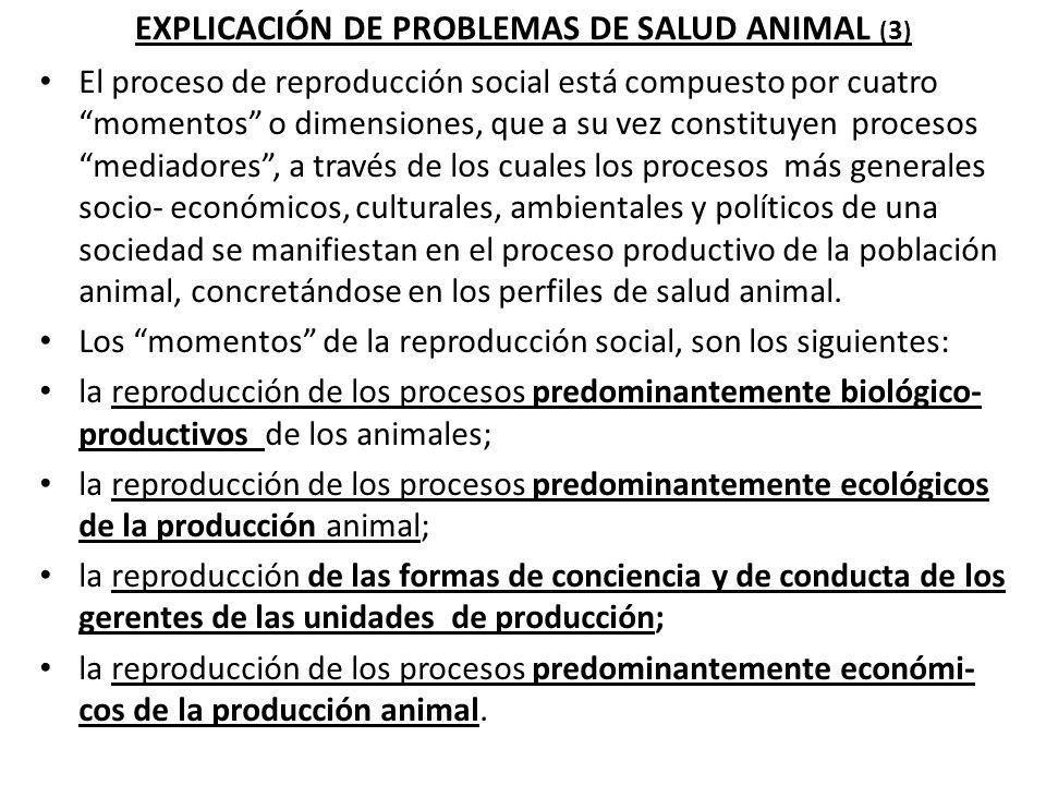 EXPLICACIÓN DE PROBLEMAS DE SALUD ANIMAL (4) III.