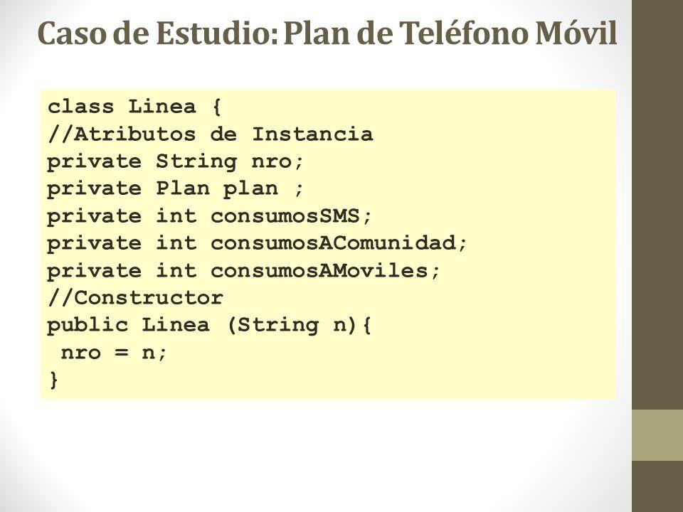 class Linea { //Atributos de Instancia private String nro; private Plan plan ; private int consumosSMS; private int consumosAComunidad; private int co