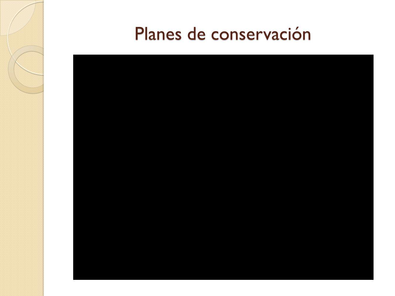 Planes de conservación