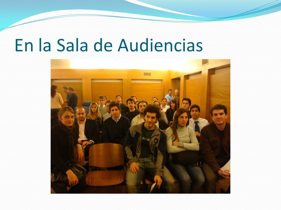 En la Sala de Audiencias