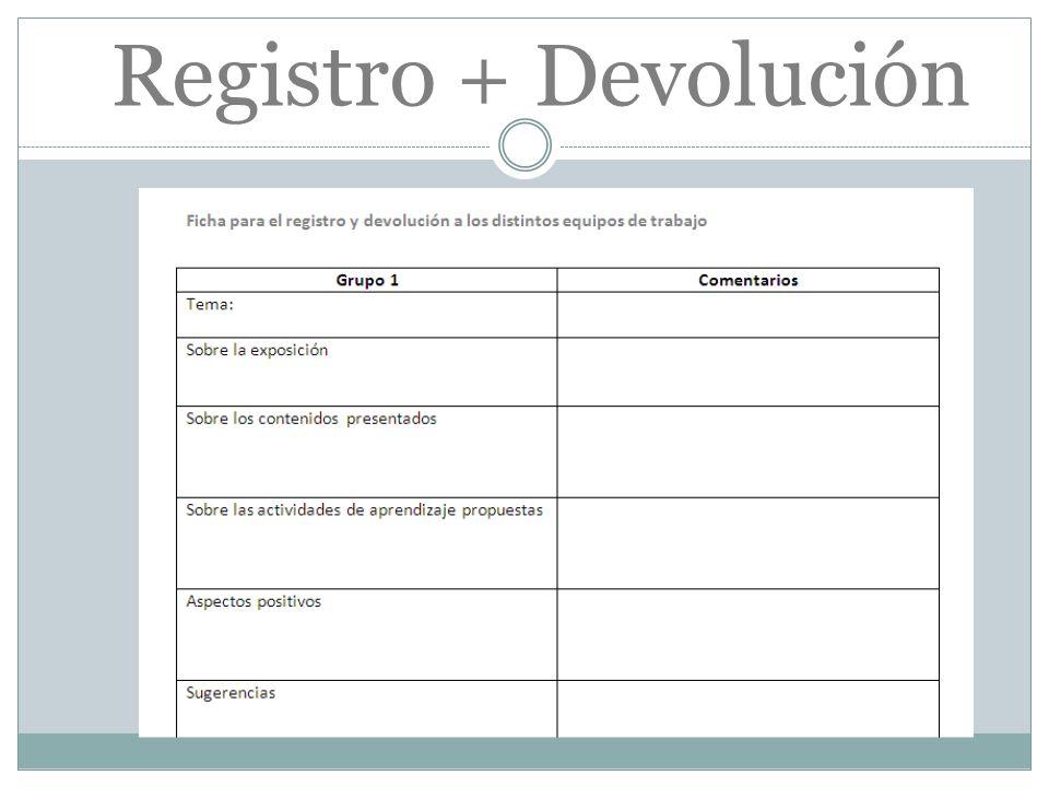 Registro + Devolución