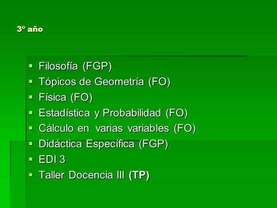 4º año Ética Profesional (FGP) Ética Profesional (FGP) Ecuaciones Diferenciales y Aplicaciones de las Matemáticas.