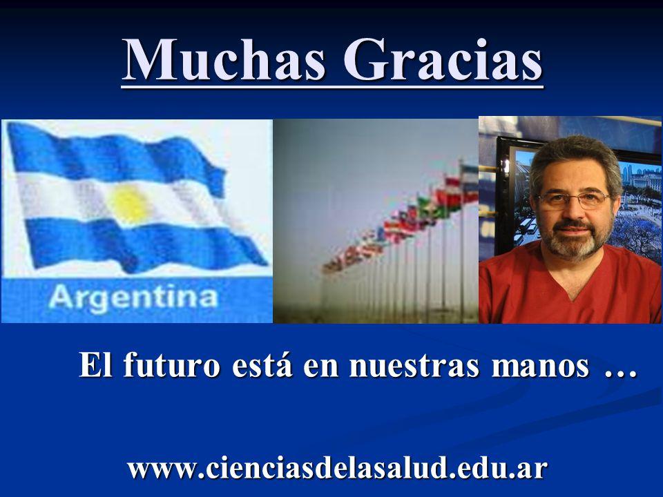 Muchas Gracias El futuro está en nuestras manos … www.cienciasdelasalud.edu.ar