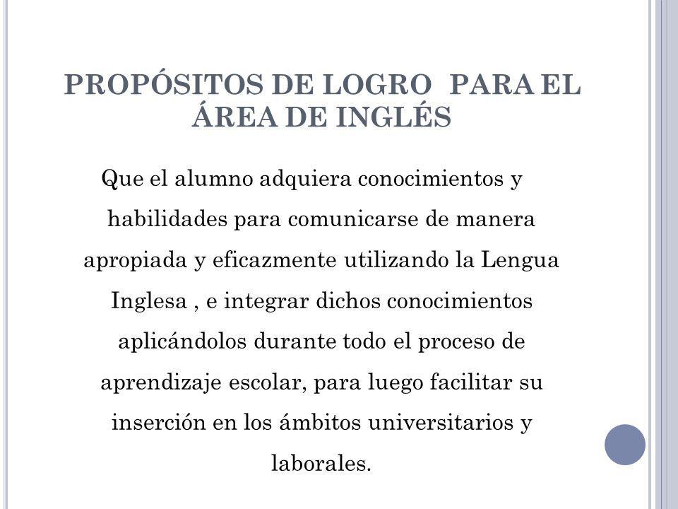 MARCADORES DE AVANCE … Exposición constante del alumno frente al idioma.